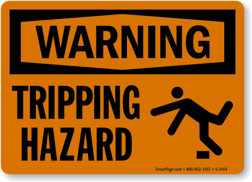 Tripping-hazard-warning-sign-s-4414